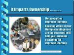 it imparts ownership howard 1994 pp 236 239
