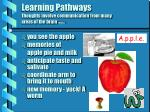 learning pathways thoughts involve communication from many areas of the brain nunley