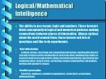 logical mathematical intelligence