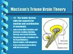 maclean s triune brain theory
