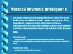musical rhythmic intelligence