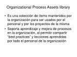 organizational process assets library