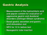 gastric analysis