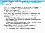 some suggestions for greater coherence in aid policy