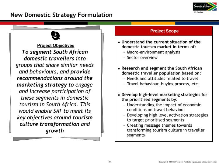 New Domestic Strategy Formulation