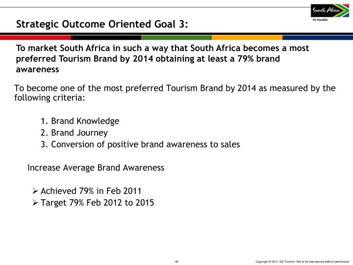 Strategic Outcome Oriented Goal 3: