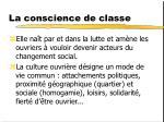 la conscience de classe