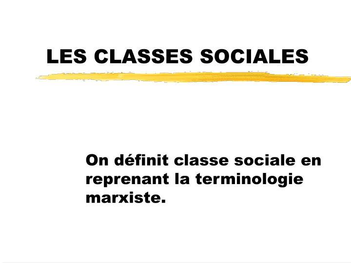 les classes sociales n.