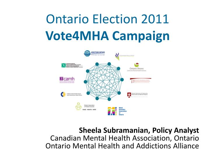 ontario election 2011 vote4mha campaign n.