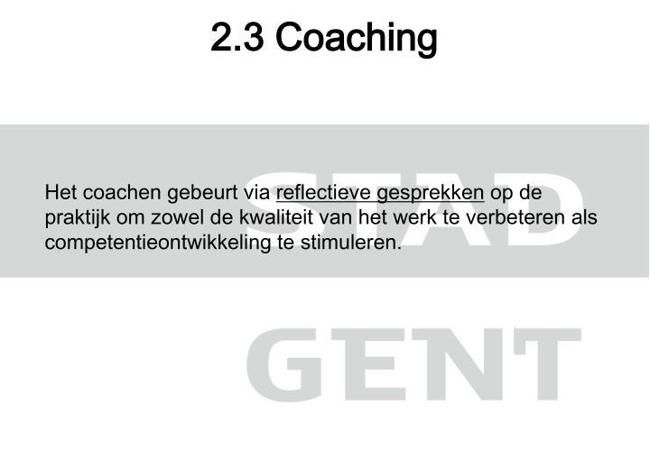 2.3 Coaching
