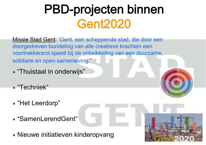 PBD-projecten binnen