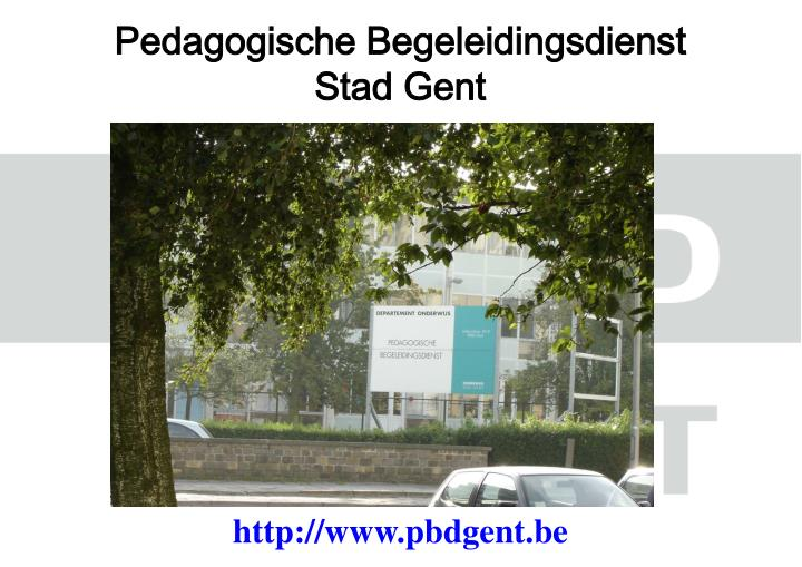Pedagogische begeleidingsdienst stad gent
