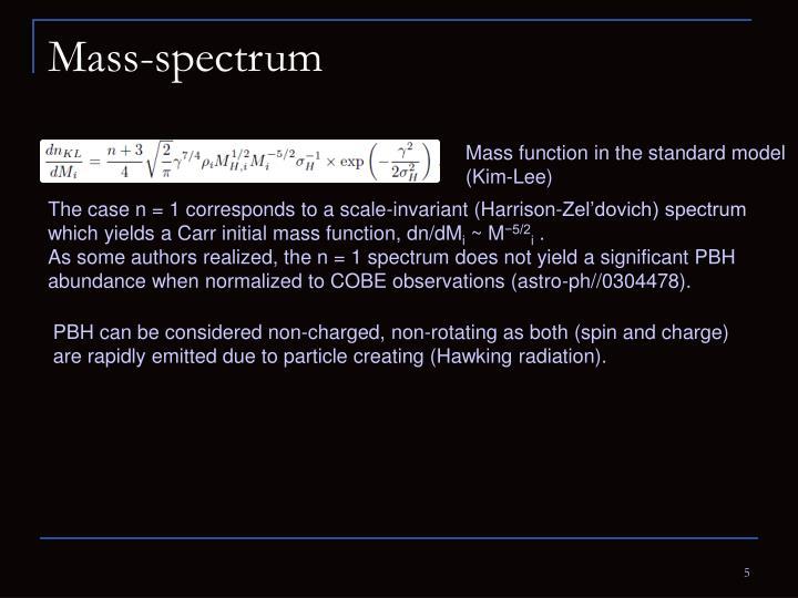 Mass-spectrum