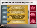 operational excellence imperatives