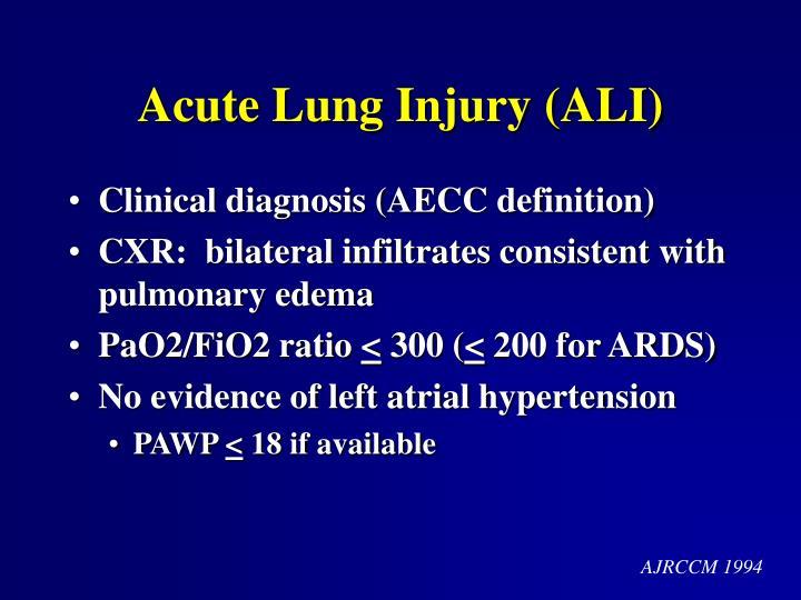 Acute Lung Injury (ALI)