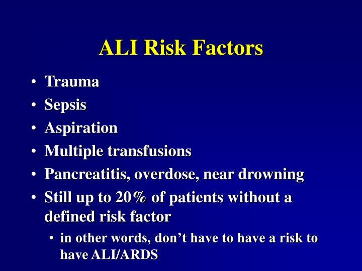 ALI Risk Factors