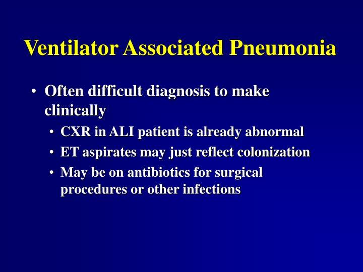 Ventilator Associated Pneumonia