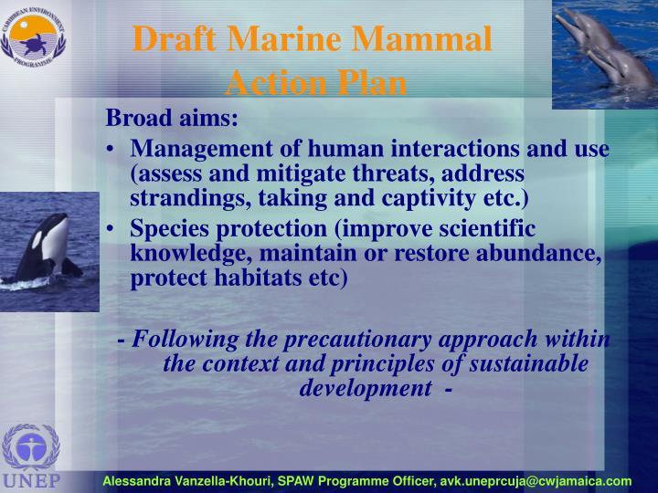 Draft Marine Mammal