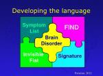 developing the language