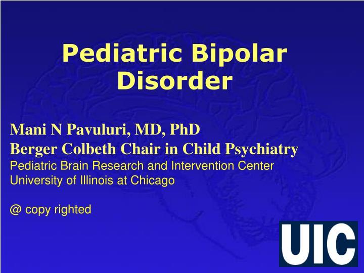 pediatric bipolar disorder n.