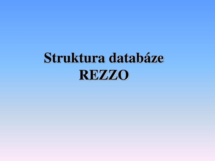 Struktura databáze
