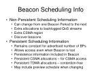 beacon scheduling info