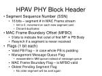 hpav phy block header
