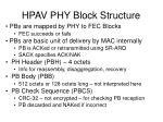 hpav phy block structure