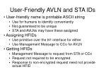user friendly avln and sta ids