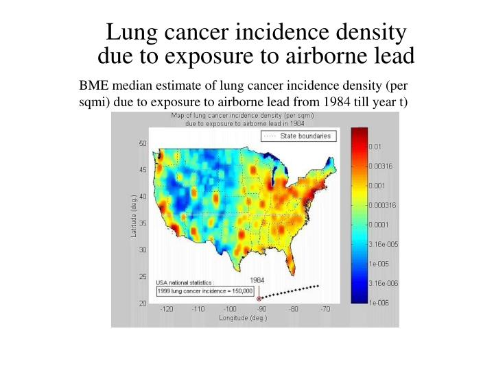 Lung cancer incidence density
