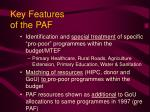 key features of the paf