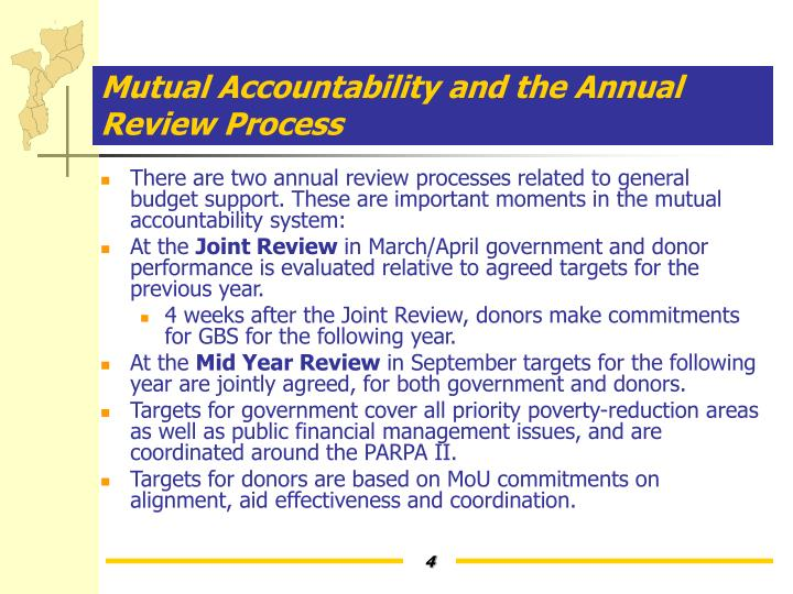 Mutual Accountability and the Annual Review Process