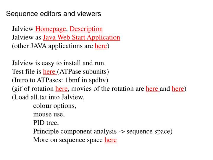 Sequence editors and viewers