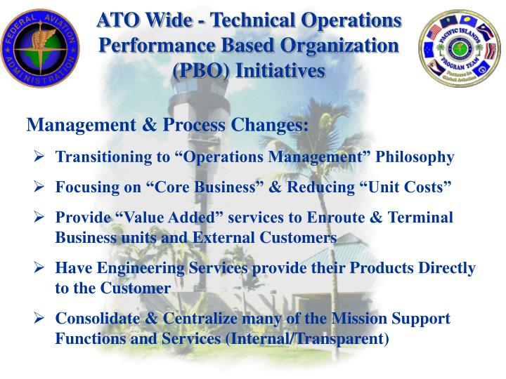 Ato wide technical operations performance based organization pbo initiatives