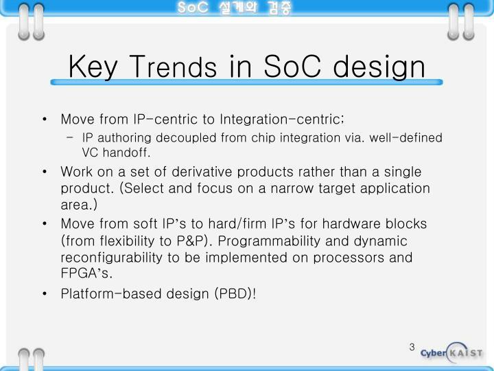 Key t rends in soc design