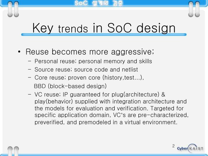 Key trends in soc design