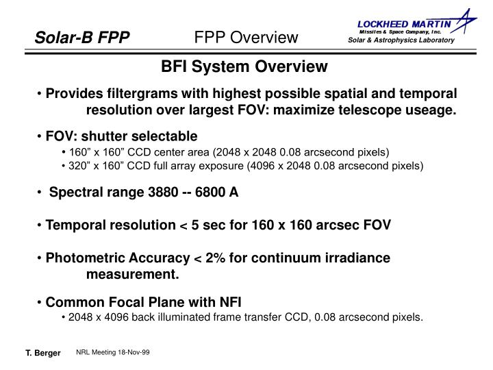 BFI System Overview