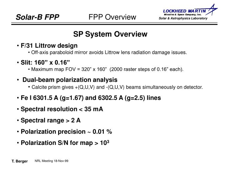 SP System Overview