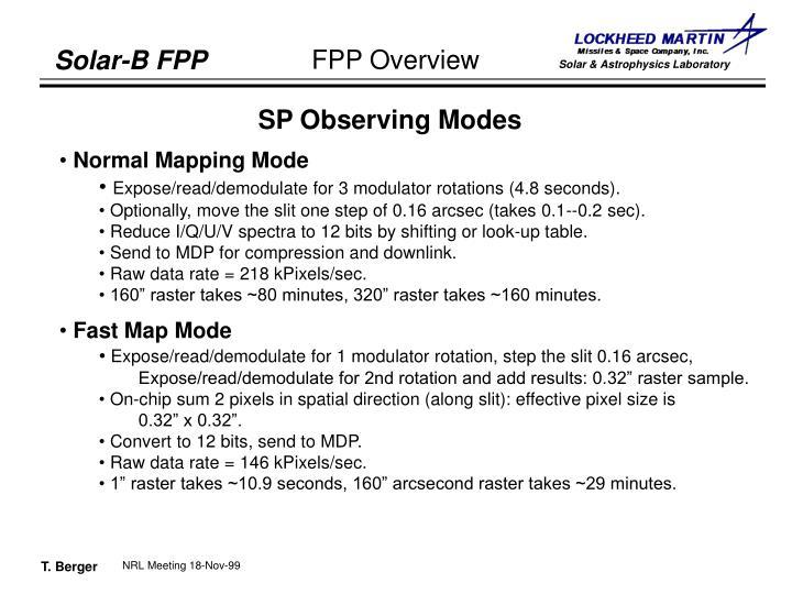 SP Observing Modes