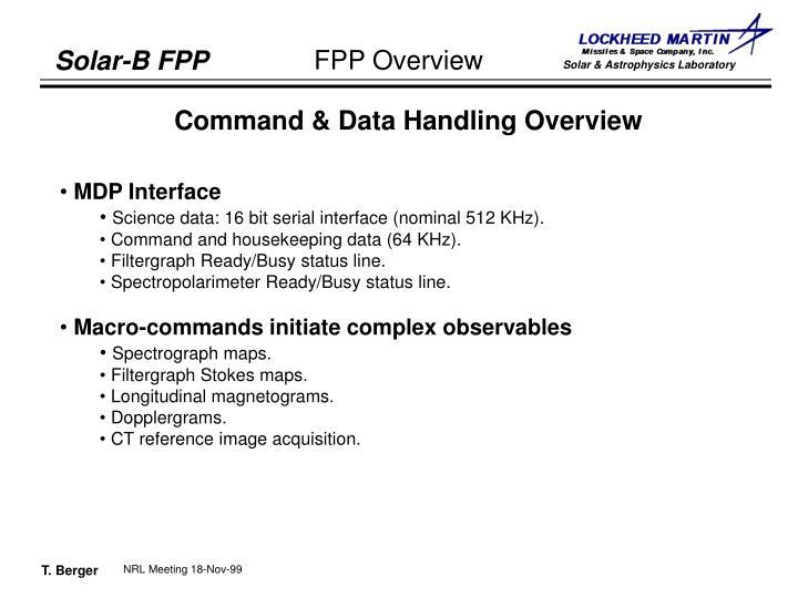 Command & Data Handling Overview