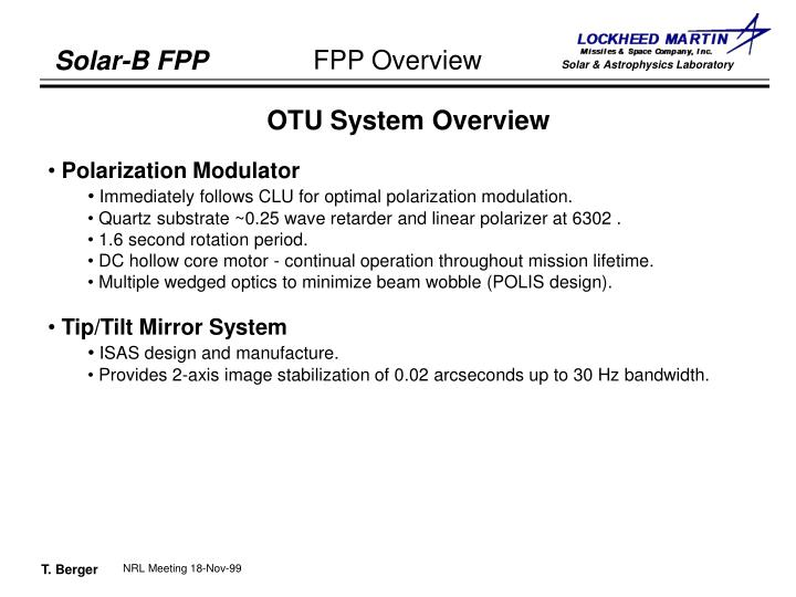 OTU System Overview