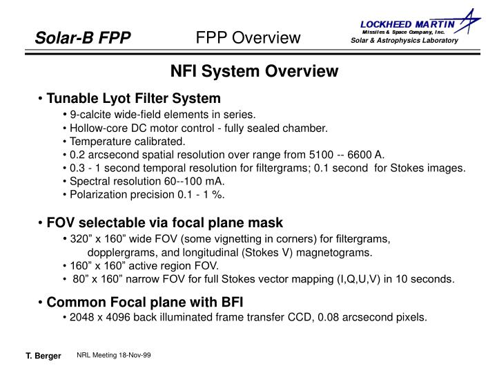 NFI System Overview
