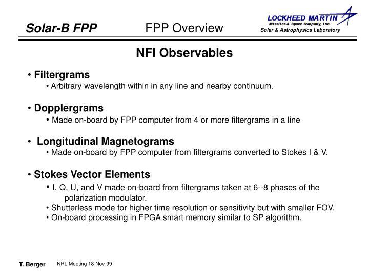 NFI Observables