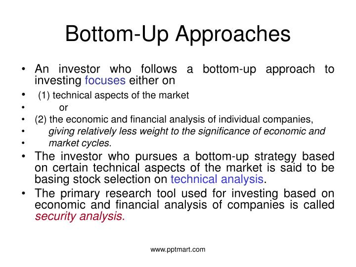 Bottom-Up Approaches