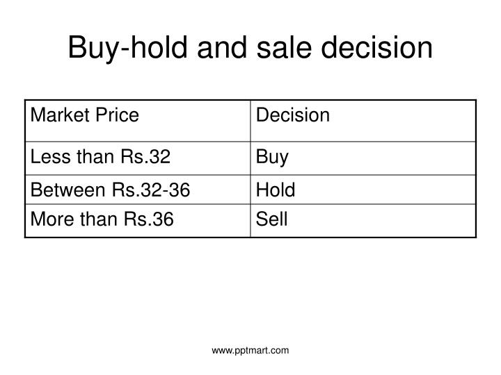 Buy-hold and sale decision