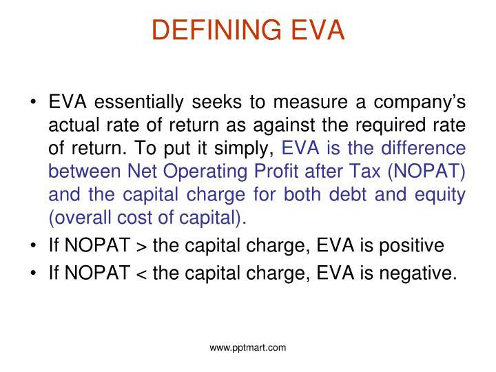DEFINING EVA
