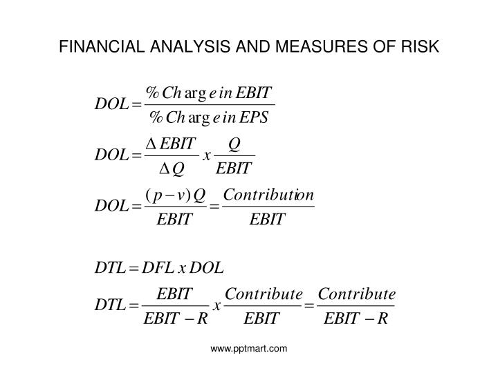 FINANCIAL ANALYSIS AND MEASURES OF RISK