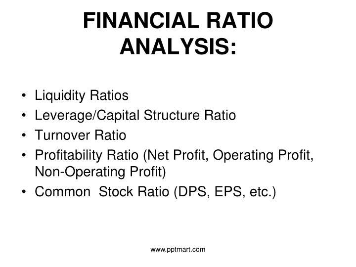 FINANCIAL RATIO ANALYSIS: