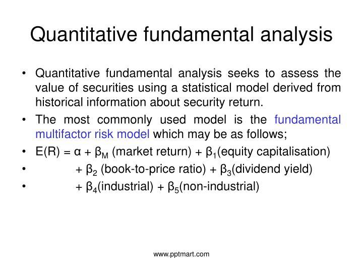 Quantitative fundamental analysis