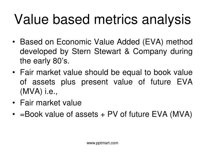 Value based metrics analysis